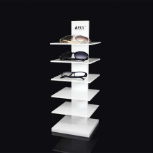 Cremalheira de exposição acrílica para óculos de sol
