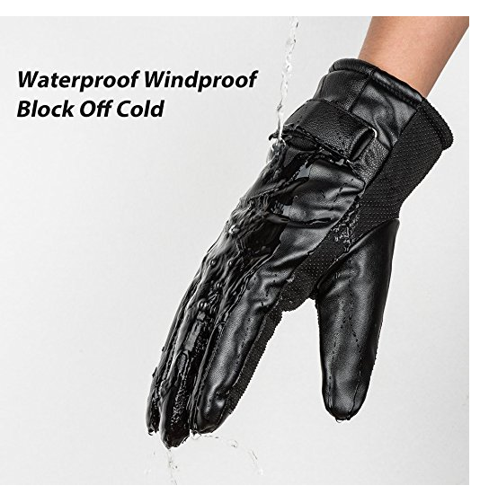 Pu leather Electric Shock Gloves