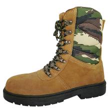 Botas de seguridad del ejército con parte superior de camuflaje