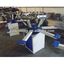 HS-1126 têxtil sreen impressora, 6 cores t camisa têxtil tela impressora