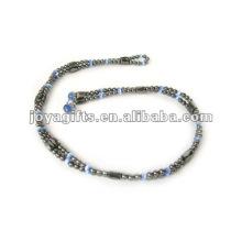"Magnetic Blue Cat's Eye Bracelet en perles et collier 36 """