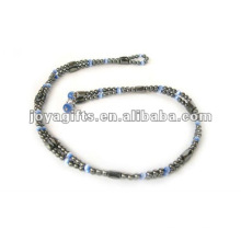 """Магнитные Blue Cat's Eye вышитый бисером обручальные браслеты и ожерелье 36 """""""