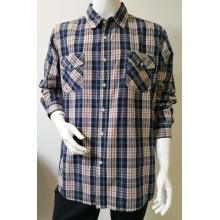 Мужская повседневная рубашка с длинными рукавами и краской для пряжи