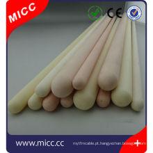 Tubo termopar OD = 15mm ID = 10mm material KER 710 Tubo cerâmico uma extremidade fechada