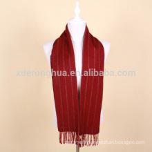 wine red wool scarf men