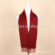 lenço de lã de vermelho de vinho homens