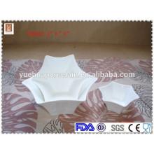 """La venta caliente 4 """"6"""" 8 """"forma del hexagram personalizó el tazón de fuente de cerámica"""