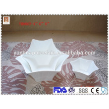 "Hot sale 4"" 6"" 8"" hexagram shape personalized ceramic bowl"