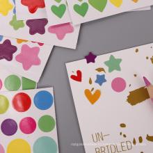 Customlized красочный детский бумажный стикер