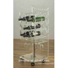 Support d'affichage de bouteille de vin acrylique