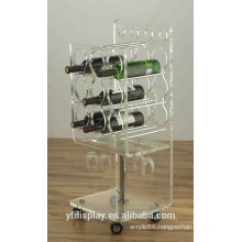 Acrylic Wine Bottle Display Rack