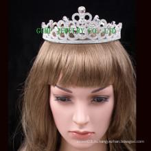 2016 Невеста Кристальная тиара Белая горная хрустальная корона