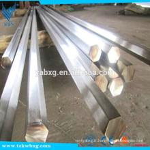 GB705 AISI316L TR et barre hexagonale en acier inoxydable S8 à S21 poli