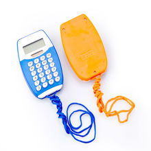 8 Digits Small Pocket Calculator with Lanyard Dual Power