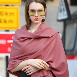 Solid Cashmere Woven Throw