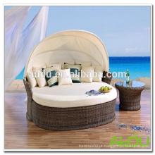 Sofá-cama de vime de jardim exterior Audu