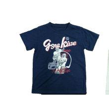 T-shirt 100% do basquetebol do algodão na roupa das crianças com impressão