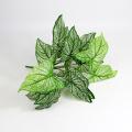 cheap decorative fire-retardant artificial leaves green