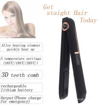wireless rechargeable hair flat iron
