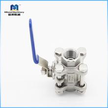 Proveedor confiable de calidad superior de acero inoxidable 3pc extremo de la abrazadera de la válvula de bola