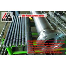 Tornillo cilíndrico planetario de la máquina de extrusión para lámina de PVC