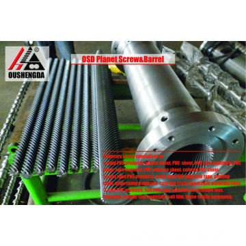 extrusion machine planetary cylinder screw for PVC sheet