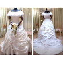 Impressionante novo vestido de casamento nupcial de design de qualidade superior RB065