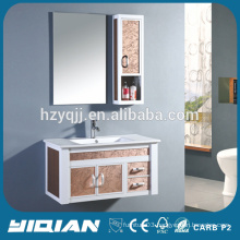 Wall Hang Mirrored Aluminum Bathroom Cabinet