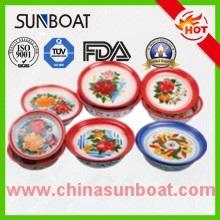 Bacia de lavagem florescida chinesa tradicional do esmalte