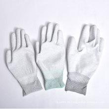 Nylon / Polyester Handschuhe PU Beschichtung auf Palm und Fingern mit Ce
