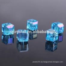 Cristal cuadrado cuentas de joyería