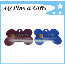 Aluminum Dog Tags with Printed Logo