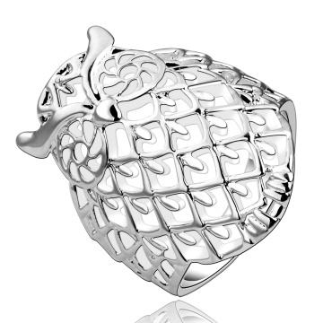 Klassischer kreativer heißer Verkauf in Europa-Mann-und Frauen-Ring-Kupfer-Schmucksache-Eulen-Schaffel-populärer Ring