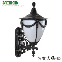Long Life Wall-Mount Black Cast Aluminum Lantern