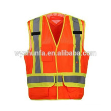 CSA Z96-09 class 2 reflective vests with 3M high visibility tapes m100% polyester mesh fabric road warning security