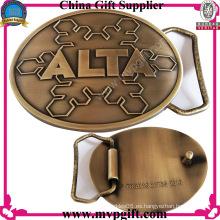 Hebilla de cinturón de metal con la moda de color antiguo