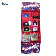 Personalizado atacado 3 camada papelão papelão expositores de supermercado idéias de exibição de exibição / papelaria rack de exibição