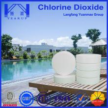 Muestras gratis Tableta de dióxido de cloro para el tratamiento y mantenimiento de piscinas