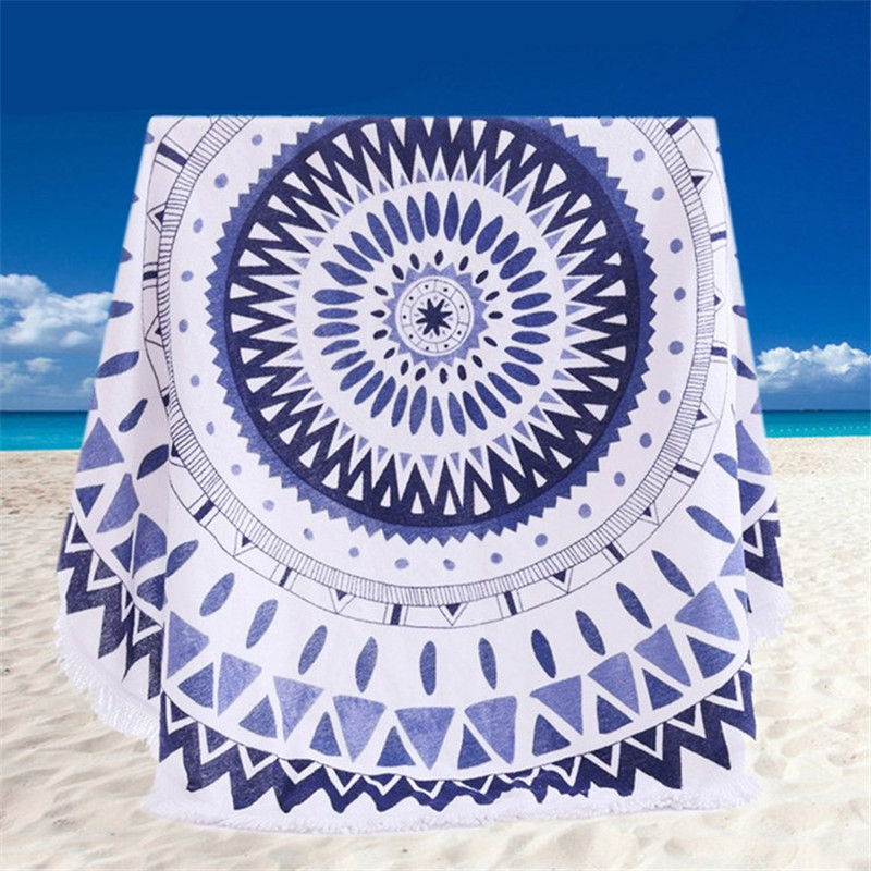 Large Beautiful Colorful Round Beach Towel