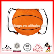 Sac à dos mignon de Drawstring de basket-ball avec le logo adapté aux besoins du client