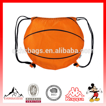 Cute Basketball Drawstring Backpack With Customized Logo