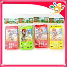 Musical mobile phone toy with LED lights cartoon phone toys plastic toy phone for kids