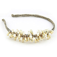 Neueste Stil Perle Perlen Haarband Stirnbänder Für Mädchen BH10