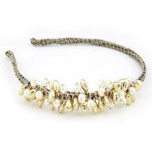 Última Estilo Pearl Beaded Hairband Headbands Para Menina BH10