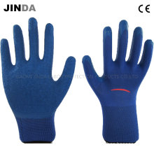 Polyester Shell Latex Crinkle Finish Industrial Labor Protective Working Gloves (LS201)