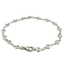 High Quality Silver Heart Bracelet for Girls