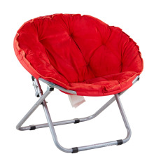 Wholesale Furniture Foldable Sofa Single Sun Lounger Leisure Round Moon Folding Chair