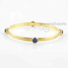 Brazalete azul de Lapis del oro 18k, surtidor al por mayor para la joyería de los brazaletes de la piedra preciosa para las mujeres