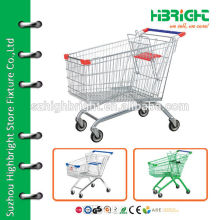 european style super market shopping cart