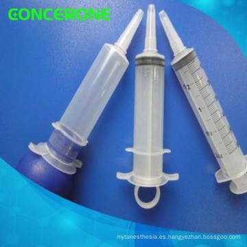 Jeringa desechable para irrigación / ducha estéril con material plástico